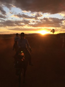 Sunset trial ride