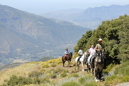 Riding in the Alpujarras Mountains