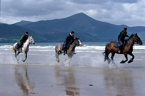 Riding on the beaches in Ireland
