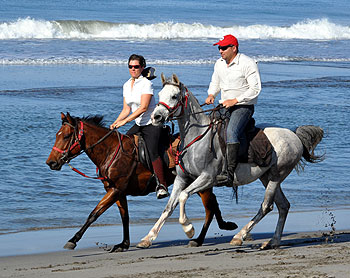 Cantering on the beach in Chiapas