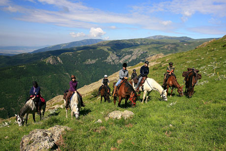 Springtime riding in Bulgaria