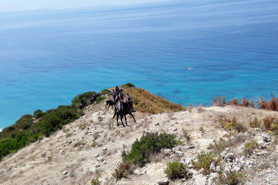 horse riding the King's Army route Albania