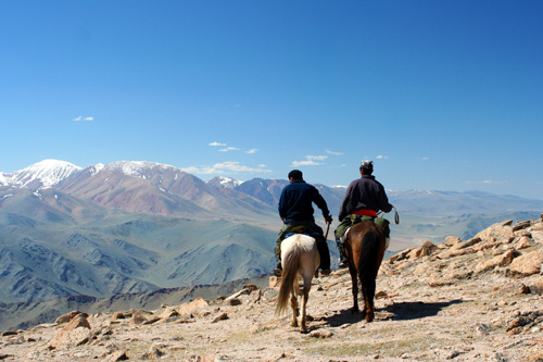 Riding in Altai Mountains, Mongolia