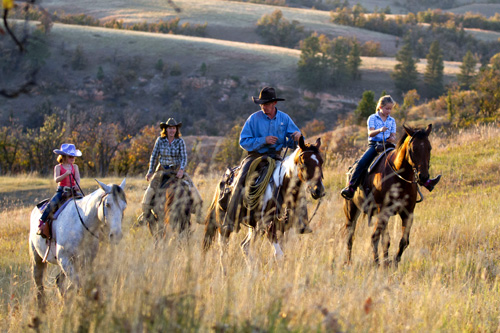 family horse riding holiday in Wyoming