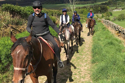 Horse riding in the Scottish countryside