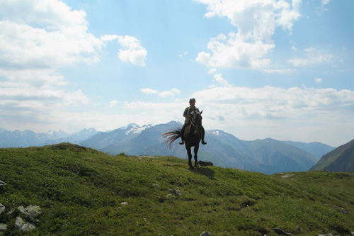 Horse riding in the Blond Mountains