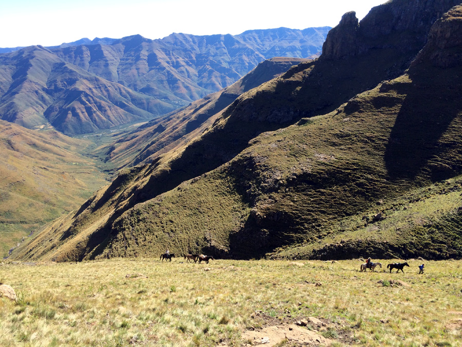 Riding in wild Lesotho