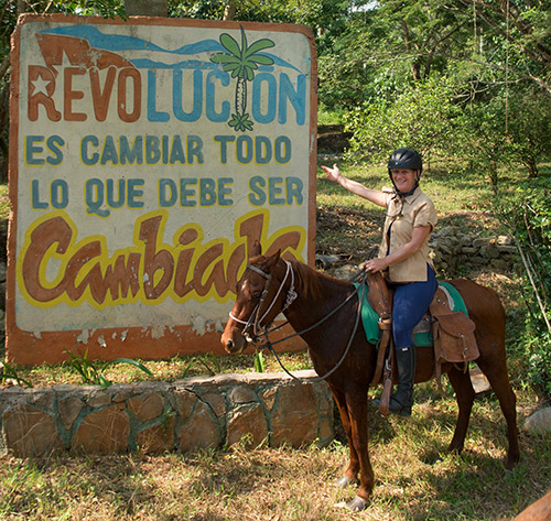 Shawn Hamilton on The Revolution Trail horse-riding holiday in Cuba
