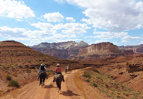 Riding through canyons of Utah