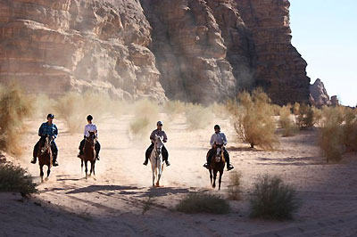 Cantering in the desert