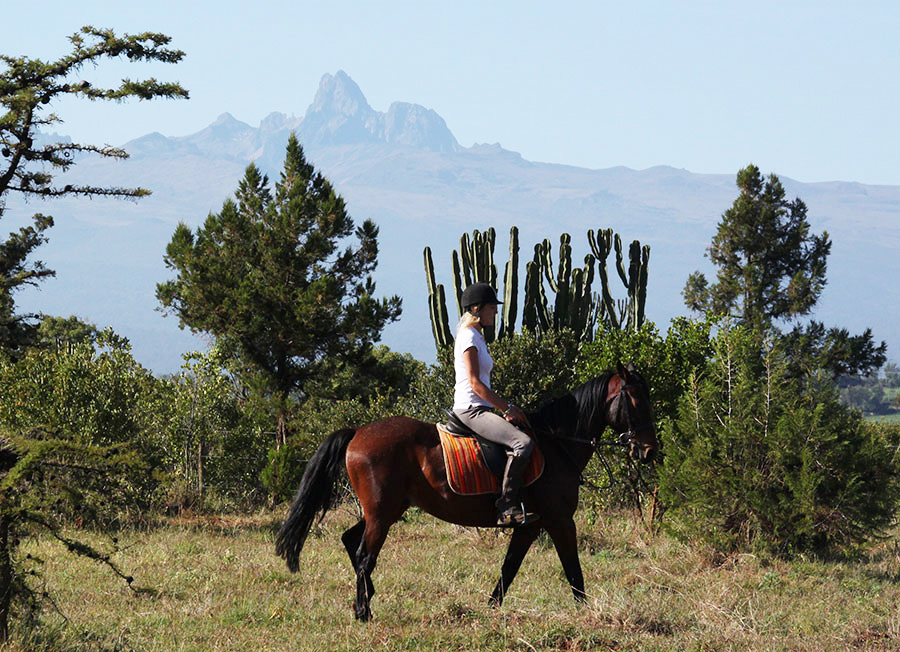 Riding in Kenya