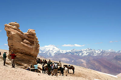 Crossing the Andes Mountains on horseback