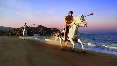 Riding on the beach in Oman