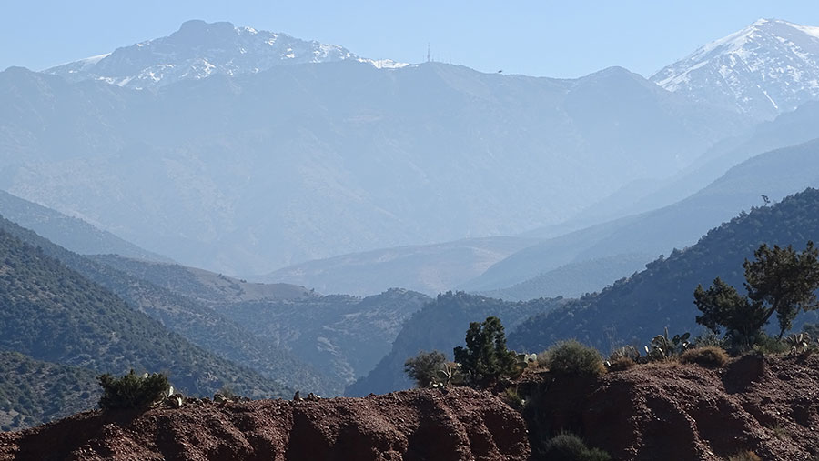Views of the Atlas Mountains