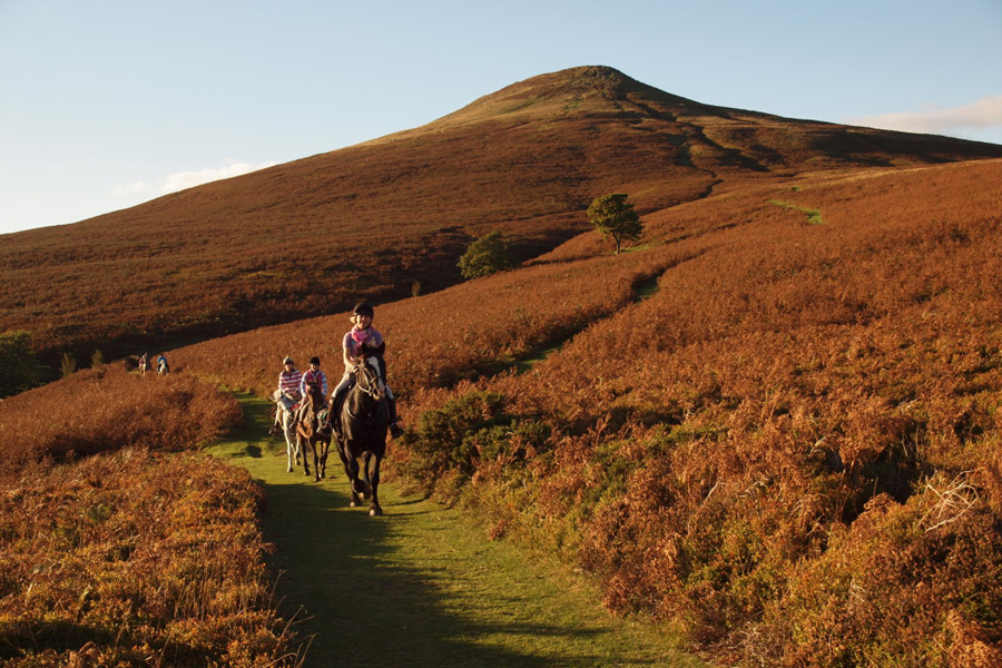 Riders with beautiful Brecons
