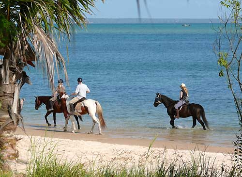 Riding on the beach, Mozambique