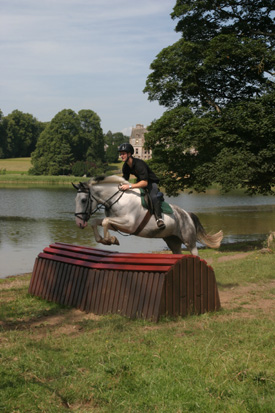 Jumping on the cross-country course, Castle Leslie, Ireland