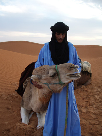 Guide and camel