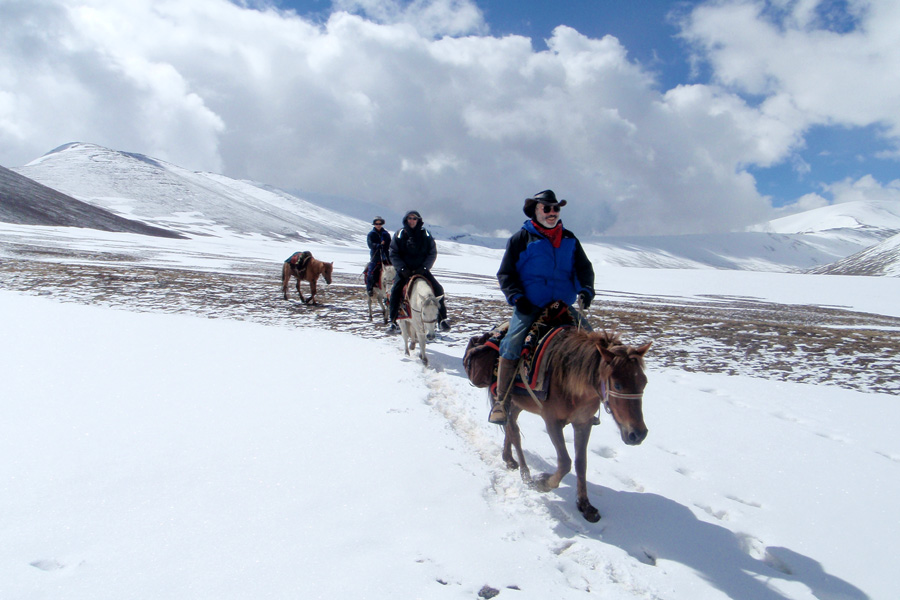 Riding in the Himilayas