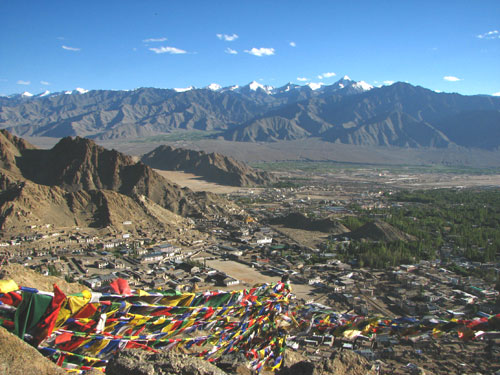 Incredible scenery and religious setting in Ladakh