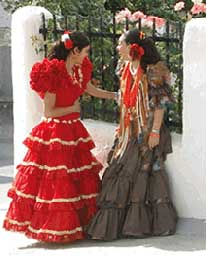 Traditional dress is still commonly worn