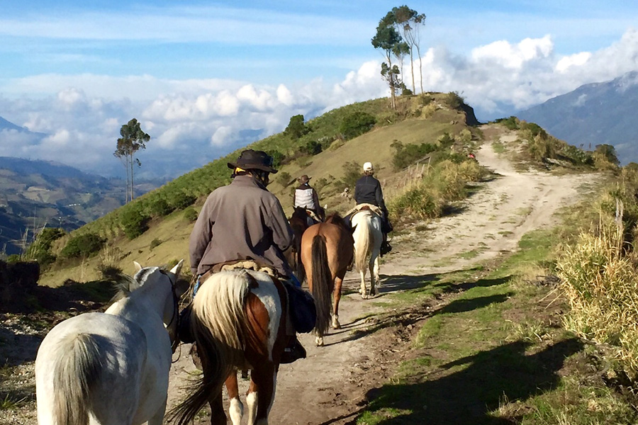 horse riding holiday Ecuador