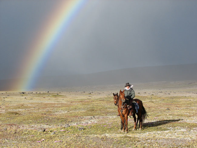 Rainbow on the paramo