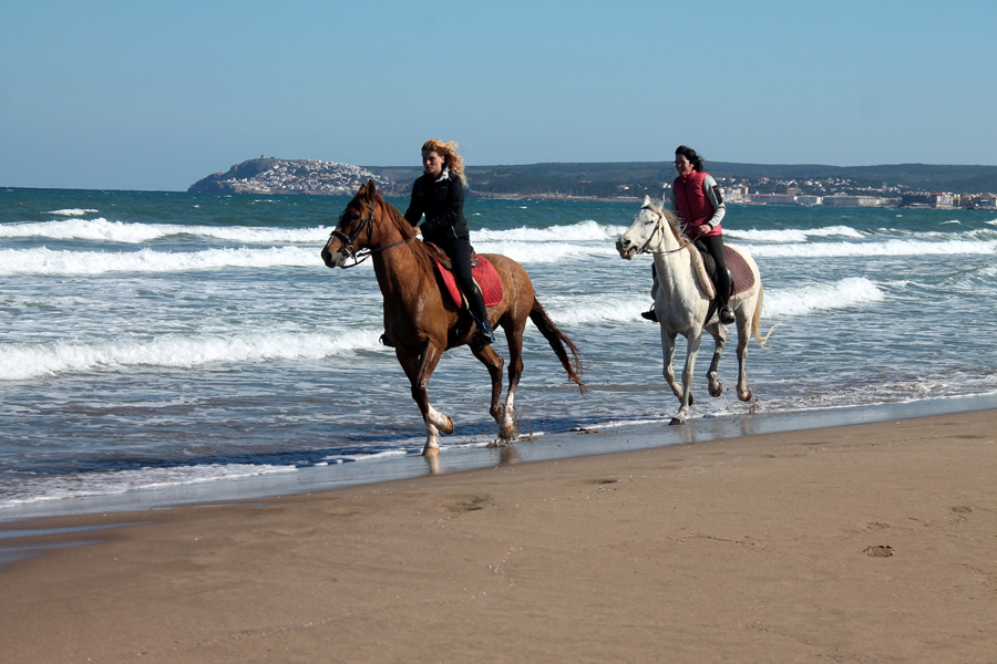 Beach horseback vacation Spain