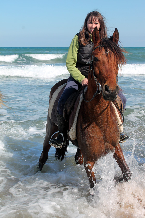 Beach horseback vacation in Catalonia