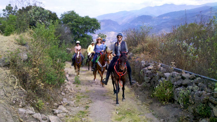 Riding out from Lachatao - Sierra Juarez