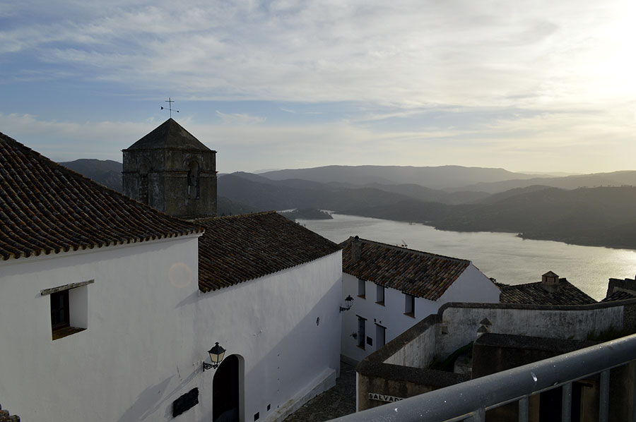 View of lake from castle Castellar