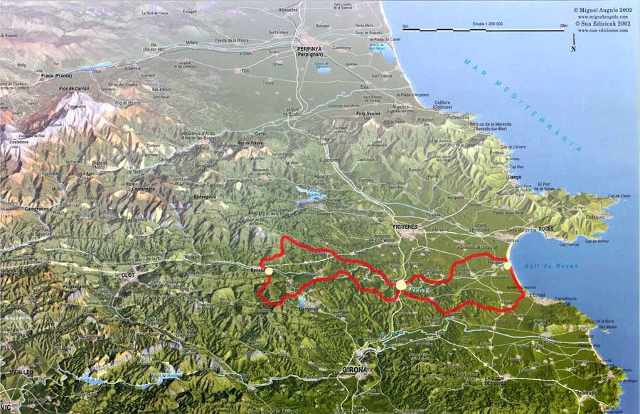 Route map Catalonia extreme trail
