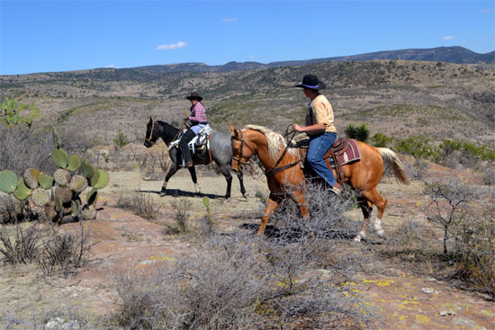 Riding cross country between Haciendas