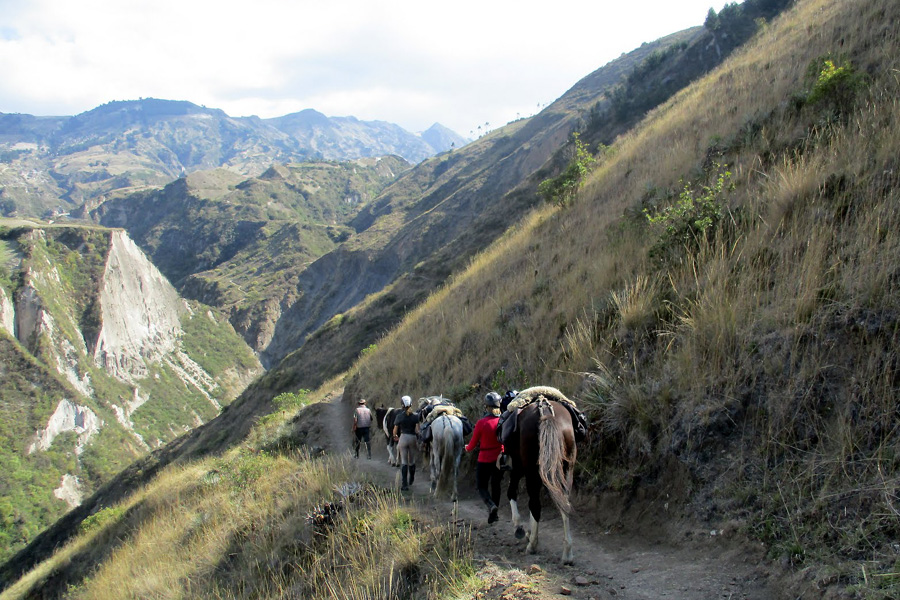 trekking in the Andes Ecuador