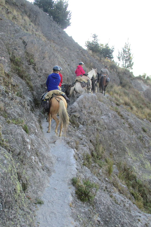 horseback trek through the Andes