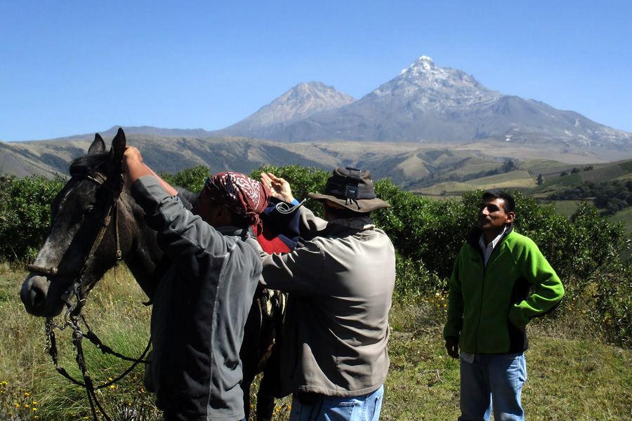 horse riding holiday in Ecuador mountains