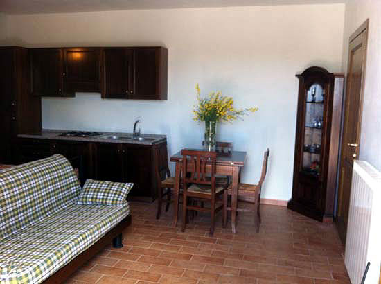Sitting room Umbria onsite accommodation