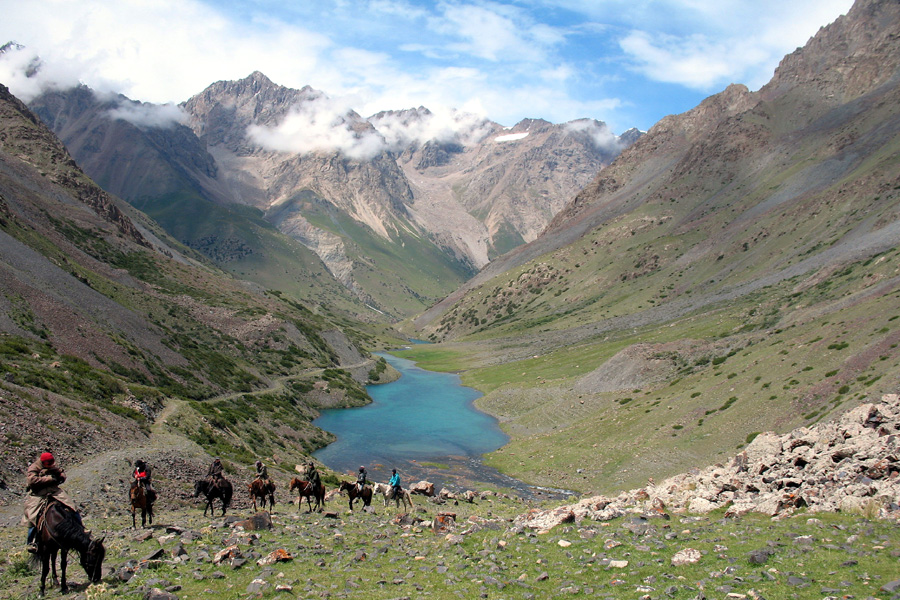 horse riding the silk road Kyrgyzstan