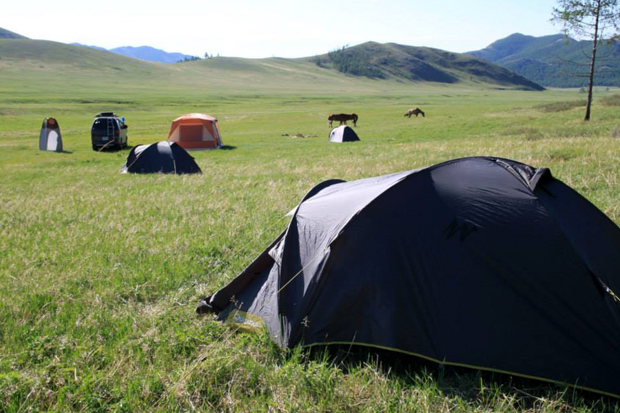 tents on transmongolia horse trek