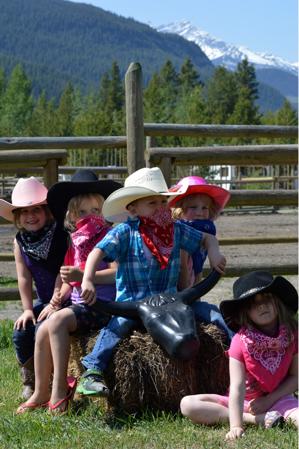 family horse riding holiday Canada