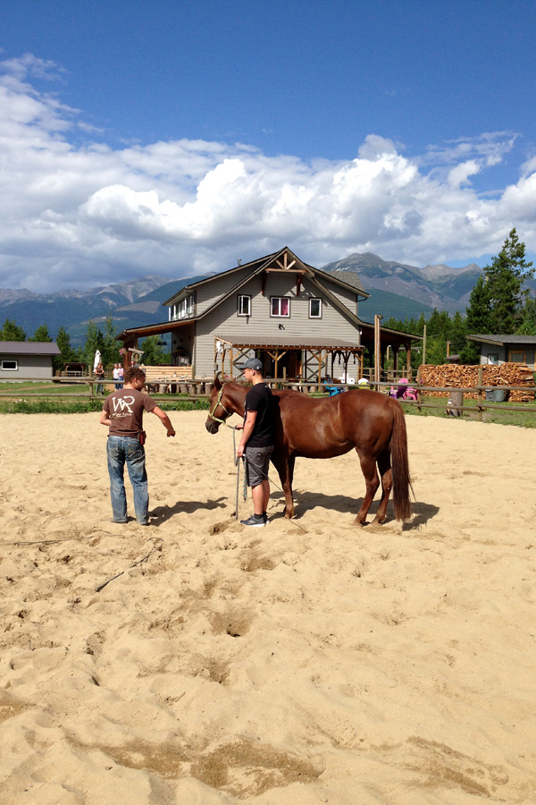 natural horsemanship riding holiday Canada