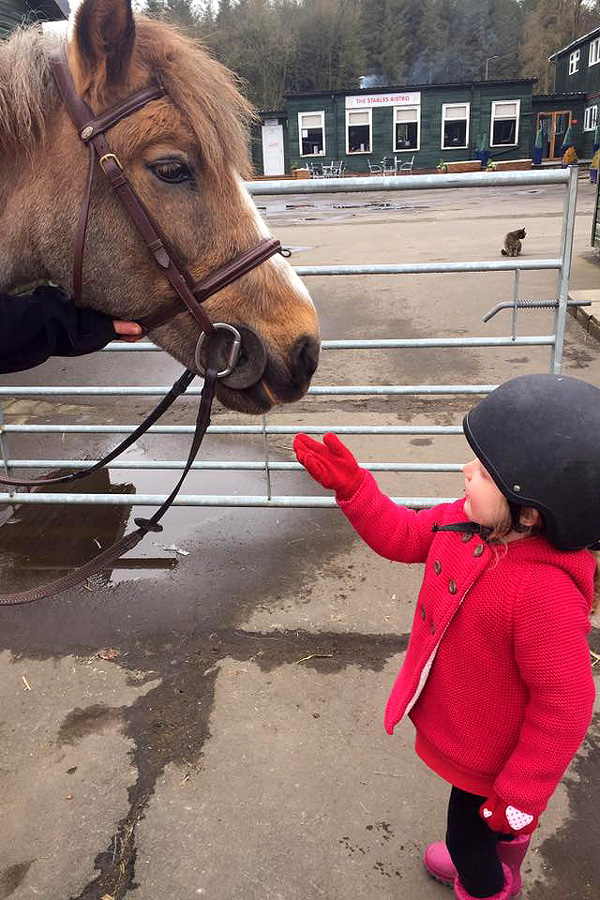 Family horse riding holiday Scotland
