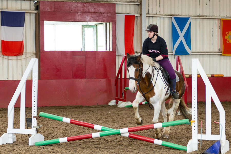 Tuition on horse riding holiday Scotland