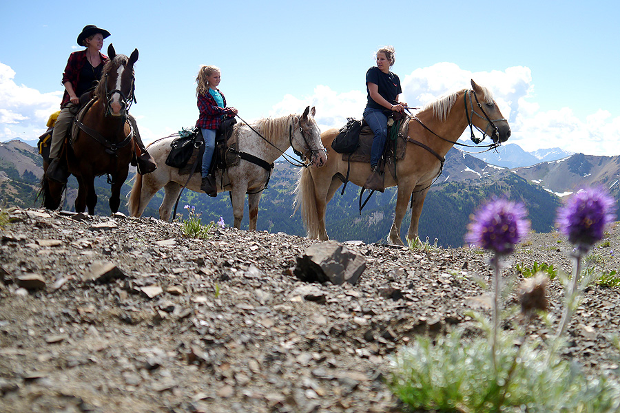 Horse riding holiday in the Rocky Mountains