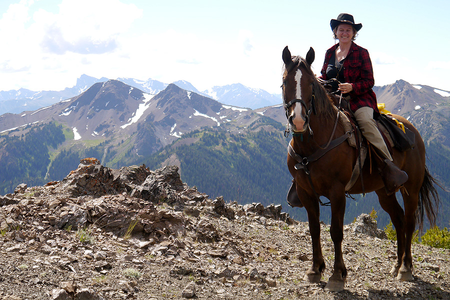 Horse riding holiday in Canadian Rockies