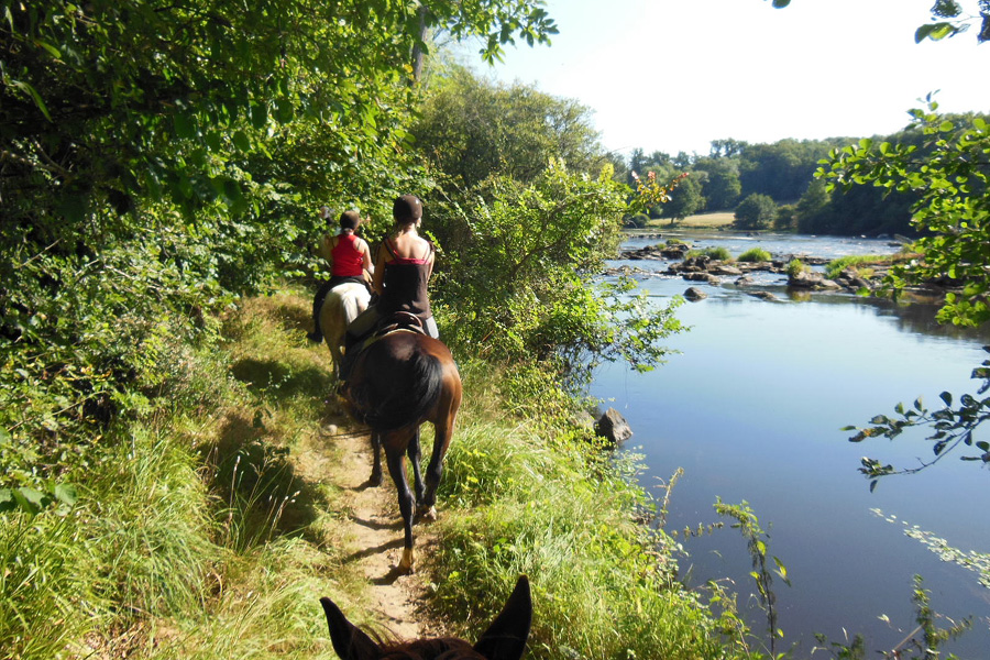 Horseback trails through the French countryside