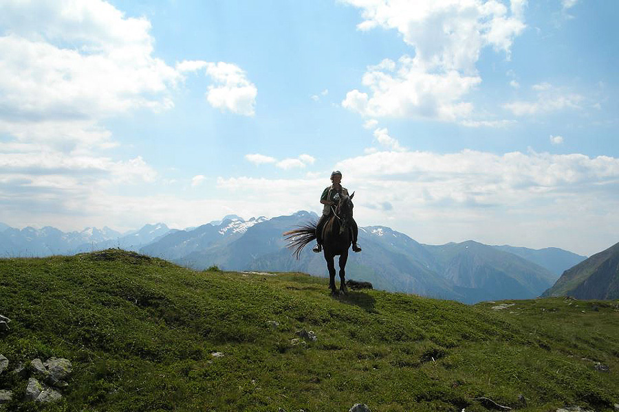 Horse riding holiday in the Blond Mountains