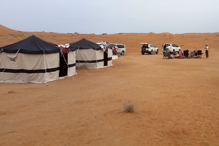 Desert camping holiday in Oman