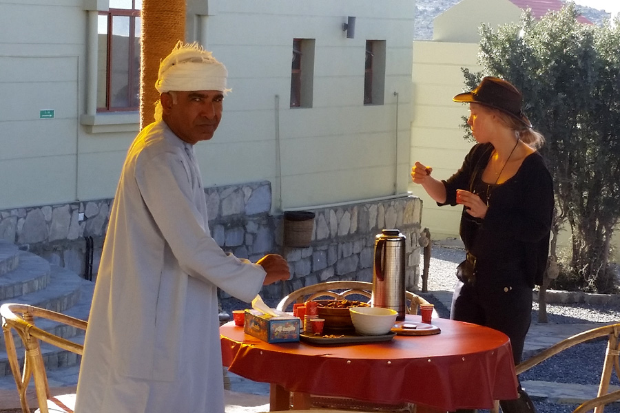 Local food on horse riding holiday in Oman