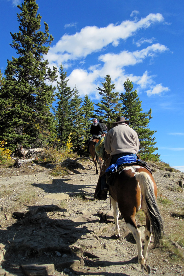 Horse riding in the Rocky Mountains
